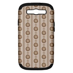 Background Rough Stripes Brown Tan Samsung Galaxy S Iii Hardshell Case (pc+silicone)