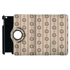 Background Rough Stripes Brown Tan Apple Ipad 3/4 Flip 360 Case