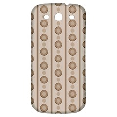 Background Rough Stripes Brown Tan Samsung Galaxy S3 S Iii Classic Hardshell Back Case