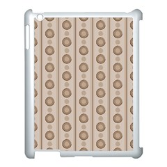Background Rough Stripes Brown Tan Apple Ipad 3/4 Case (white)