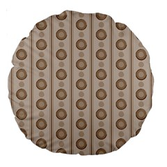 Background Rough Stripes Brown Tan Large 18  Premium Round Cushions