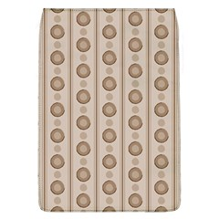 Background Rough Stripes Brown Tan Flap Covers (l)