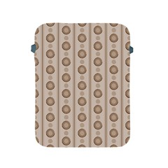 Background Rough Stripes Brown Tan Apple Ipad 2/3/4 Protective Soft Cases