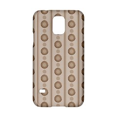 Background Rough Stripes Brown Tan Samsung Galaxy S5 Hardshell Case