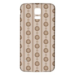 Background Rough Stripes Brown Tan Samsung Galaxy S5 Back Case (white)