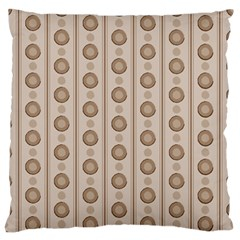 Background Rough Stripes Brown Tan Large Flano Cushion Case (two Sides)