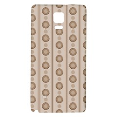 Background Rough Stripes Brown Tan Galaxy Note 4 Back Case