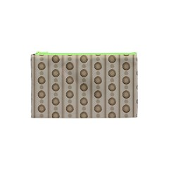 Background Rough Stripes Brown Tan Cosmetic Bag (xs)