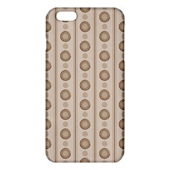 Background Rough Stripes Brown Tan Iphone 6 Plus/6s Plus Tpu Case