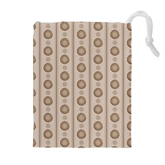 Background Rough Stripes Brown Tan Drawstring Pouches (extra Large)
