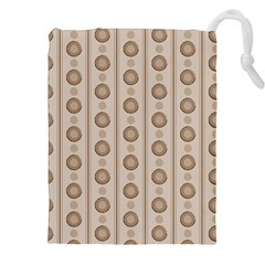 Background Rough Stripes Brown Tan Drawstring Pouches (XXL)