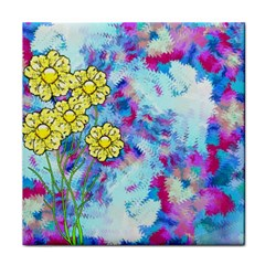 Backdrop Background Flowers Tile Coasters