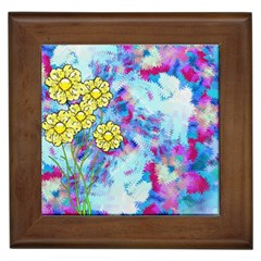 Backdrop Background Flowers Framed Tiles