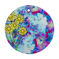 Backdrop Background Flowers Ornament (round)