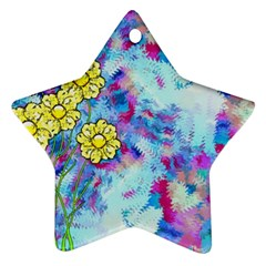 Backdrop Background Flowers Ornament (star)