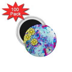 Backdrop Background Flowers 1 75  Magnets (100 Pack)