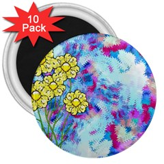 Backdrop Background Flowers 3  Magnets (10 Pack)