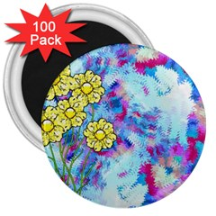 Backdrop Background Flowers 3  Magnets (100 Pack)