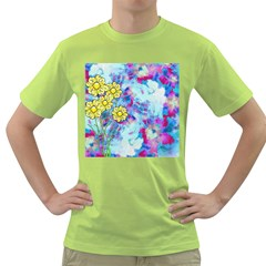 Backdrop Background Flowers Green T Shirt