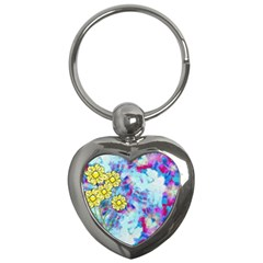 Backdrop Background Flowers Key Chains (heart)