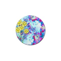 Backdrop Background Flowers Golf Ball Marker (10 Pack)