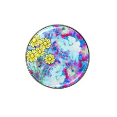 Backdrop Background Flowers Hat Clip Ball Marker (4 Pack)