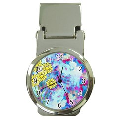 Backdrop Background Flowers Money Clip Watches