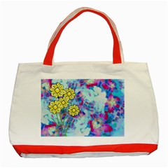 Backdrop Background Flowers Classic Tote Bag (red)