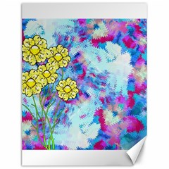 Backdrop Background Flowers Canvas 12  X 16