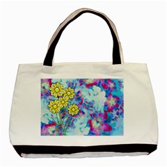 Backdrop Background Flowers Basic Tote Bag (two Sides)