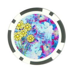 Backdrop Background Flowers Poker Chip Card Guard