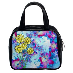 Backdrop Background Flowers Classic Handbags (2 Sides)