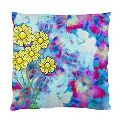Backdrop Background Flowers Standard Cushion Case (two Sides)