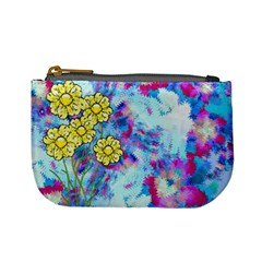 Backdrop Background Flowers Mini Coin Purses