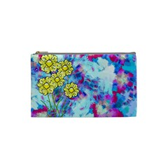 Backdrop Background Flowers Cosmetic Bag (small)