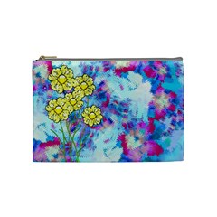 Backdrop Background Flowers Cosmetic Bag (medium)