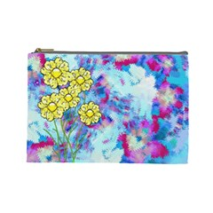 Backdrop Background Flowers Cosmetic Bag (large)