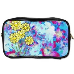Backdrop Background Flowers Toiletries Bags