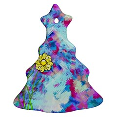 Backdrop Background Flowers Christmas Tree Ornament (two Sides)
