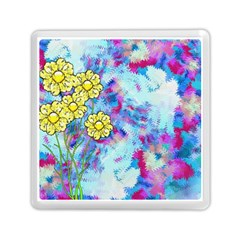 Backdrop Background Flowers Memory Card Reader (square)