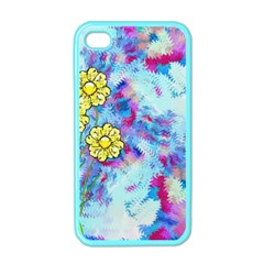 Backdrop Background Flowers Apple Iphone 4 Case (color)