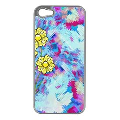 Backdrop Background Flowers Apple Iphone 5 Case (silver)