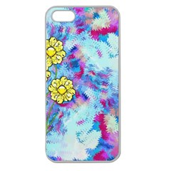 Backdrop Background Flowers Apple Seamless Iphone 5 Case (clear)