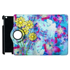 Backdrop Background Flowers Apple iPad 2 Flip 360 Case