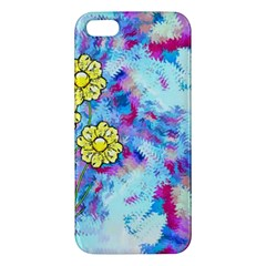 Backdrop Background Flowers Apple Iphone 5 Premium Hardshell Case