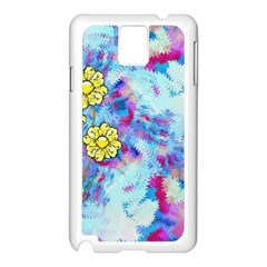 Backdrop Background Flowers Samsung Galaxy Note 3 N9005 Case (white)
