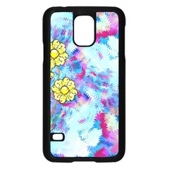 Backdrop Background Flowers Samsung Galaxy S5 Case (black)