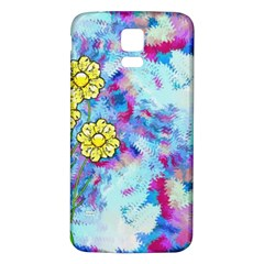 Backdrop Background Flowers Samsung Galaxy S5 Back Case (white)