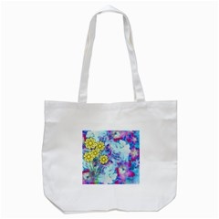 Backdrop Background Flowers Tote Bag (white)