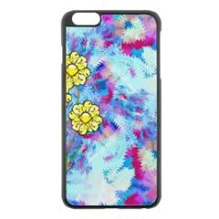 Backdrop Background Flowers Apple Iphone 6 Plus/6s Plus Black Enamel Case